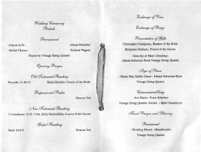 Wedding Ceremony Template on Nicole S Wedding Ceremony Program